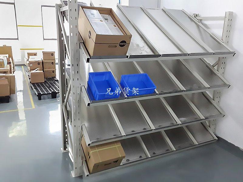 倾斜不锈钢板流利式货架