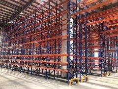 电子重型仓库货架新项目已完工
