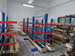 原材料仓使用的库房货架--悬臂货架